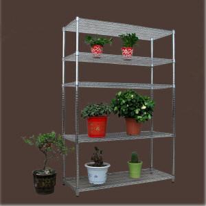 Free Standing 5 Shelf Heavy Duty Chrome Metal Flower Pot Display Racks pictures & photos