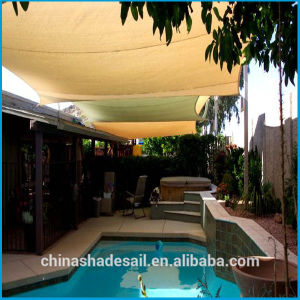 Sand Color HDPE Garden Sun Shade Sail for Swimming Pool (Manufacturer)