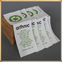 Clothing Labels India, Natural off White Clothing Labels Logo Printing