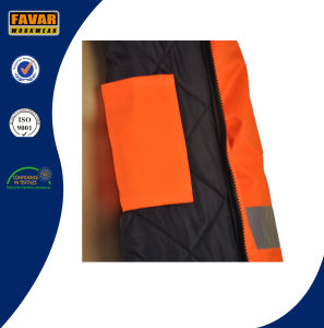 Men Waterproof High Visibility Reflective Tape PU Coating Oxford Safety Work Jacket pictures & photos