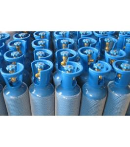 Hot 10 Liter Steel Oxygen Cylinders W/ Steel Valve Guards pictures & photos