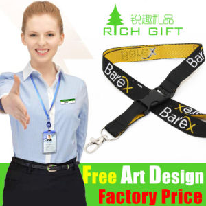 Combination Rubber Metal Hook Embroidery Patch Lanyards at Factory Price pictures & photos
