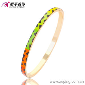 51433 Hot-Sales Fashion Simple Gold-Plated Imitation Jewelry Bangle with in Brass and Alloy pictures & photos