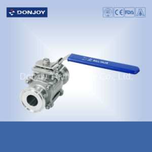 Ss 304 Manual 3PCS Clamped Non-Retention Ball Valve pictures & photos