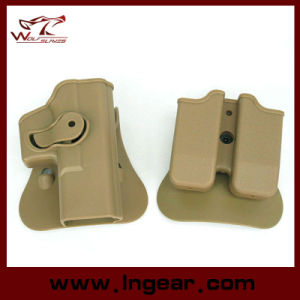 Imi Style Glock G17 19 Pistol Holster with Magazine Paddle Holster pictures & photos