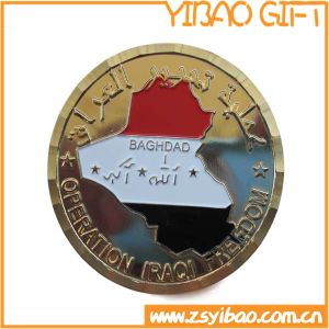 Metal Challenge Coin with Gold Plating (YB-c-043) pictures & photos