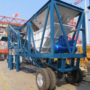 CE ISO Certified Yhzs50 (50m3/h) Small Mobile Concrete Plant pictures & photos