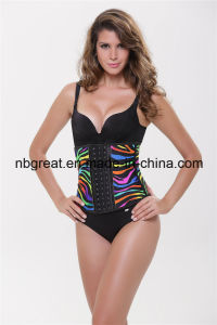 Colorful Zebra Leopard Latex Corset pictures & photos