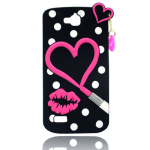 I Love Lipstick Silicone Sets of Mobile Phone Accessories Genuine Original Independent Design for Huawei Y5II Sansung Note5 HTC826 (XSF-002)