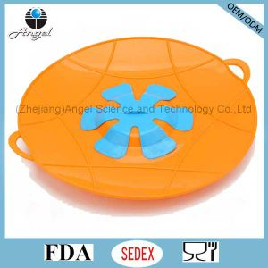 BPA Free Cooking Tool Silicone Pan Lid Over Spill Stopper Pot Lid SL17