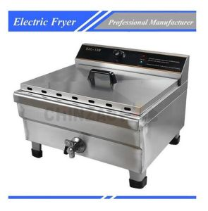 Electric Deep Fryer Frying Machine with Oil Tap Dzl-13b pictures & photos