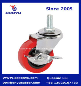 3 Inch Red PU Swivil Caster for Truck pictures & photos
