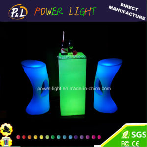 Party Decor Leisure Furniture Rechargeable LED Round Poseur Table pictures & photos