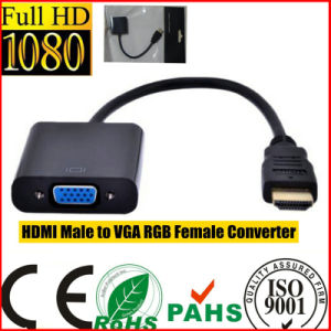 Black HDMI Male to VGA RGB Female Converter (HL-126) pictures & photos