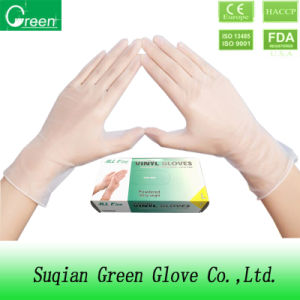 Clear Powdered Vinyl Gloves (AQL4.0) pictures & photos