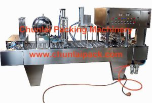 Bg60A-6c Absorb Paper Film Type Yogurt Filling -Sealing Machine (BG60A-6C) pictures & photos