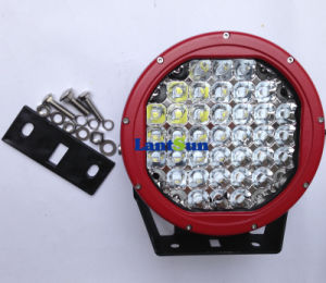 "9""Inch 185W CREE Red Black LED Work Light Driving Light pictures & photos"