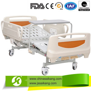 Two Functions Patient Beds with Overbed Table (CE/FDA/ISO) pictures & photos