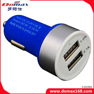 Mobile Phone Gadget 2 USB Adaptor Frosted Car Charger Dual pictures & photos