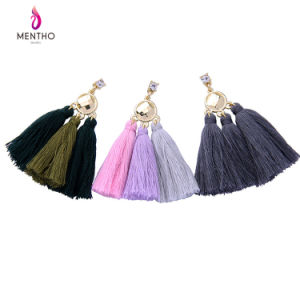 European and Americian Popular Retro Personal Rhinestone Studded Tassel Female Earrings pictures & photos