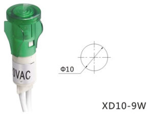 10mm Green Indicator Lamp, Green Indicator Light (XD10-9W) pictures & photos