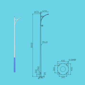 Street Lamp/Light Pole-6 Meters Lp-a-6