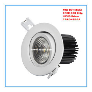 Recessed LED Downlight 10W with CREE COB LED Chip pictures & photos