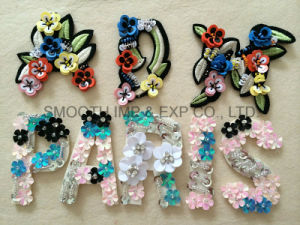 Fashion Clothing Decoration Handmade Colourful Letter String Beads Sequin Patch Accessories pictures & photos
