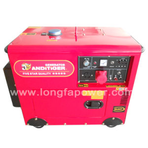 8kVA 220V Red Colour Three Phase Silent Generator Diesel pictures & photos