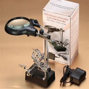 High Quality Desk Magnifier with LED Light (EGS16132-C) pictures & photos