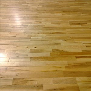 Prefinished Solid Maple Sport Wooden Parquet Flooring