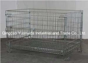 Steel Wire Mesh Pallet Cages Containers for Warehouse Storage pictures & photos