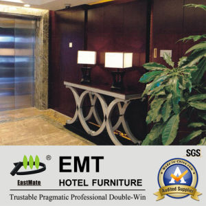 Hot Hotel Console Design New Solid Wood Decorated Table (EMT-CA33) pictures & photos