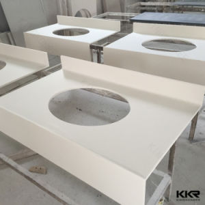 Solid Surface Customized Bathroom Vanity Tops for Hotel Furniture 061905 pictures & photos