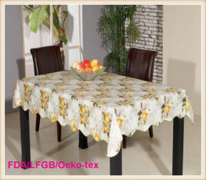 PVC Printed Tablecloth with Nonwoven Backing New Designs 2016 for Wedding pictures & photos