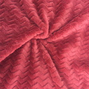 100% Polyester Wave 2jacquard Flannel Fleece pictures & photos