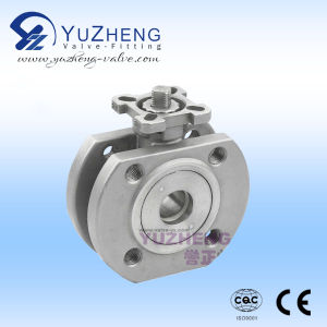 Italy Wafer Type Ball Valve with ISO Pad pictures & photos