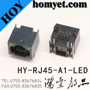 Professional Manufacturer RJ45 Socket with LED (HY-RJ45-A1-LED) pictures & photos