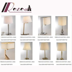 Guzhen Modern Bedside Table Lamp with Flameproof Fabric Shade pictures & photos