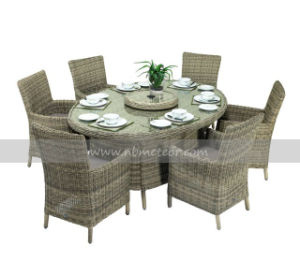Mtc-020-1 6 Seaters Rattan/Wicker Dining Set for Outdoor pictures & photos
