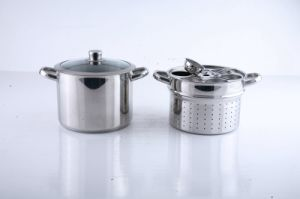 18/10 Stainless Steel Pasta and Steamer Insert Set Cookware pictures & photos