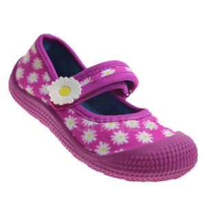 Youth Girls Aqua Shoes with Chrysanthemum Print