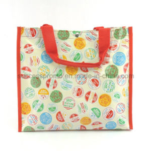 PP Woven Laminated Bag with Inside Zipper Pocket, Button Closure pictures & photos