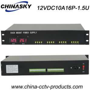 16 Channels 12V LED Display CCTV Rackmount Power Supply (12VDC10A16P-1.5U) pictures & photos
