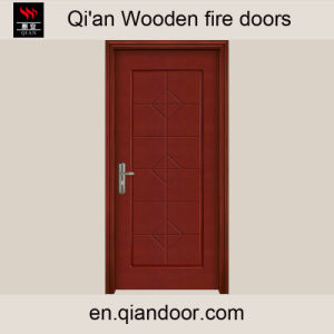 Teak Veneer HDF Composite Fire Door pictures & photos
