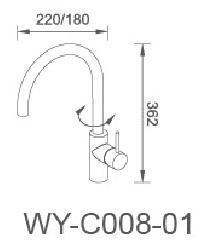 Stainless Steel Single Handle Kitchen Sink Faucet with CSA&Wm Certificates pictures & photos