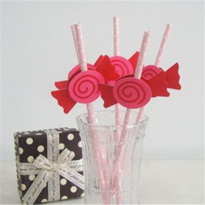 High Quality Food Grade Colorful Candy Tag Paper Drinking Straw pictures & photos