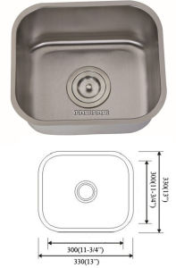 Stainless Steel Sigle Bowl Bar Sink with Cupc Certification pictures & photos