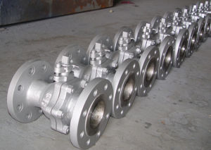 2 Pieces Trunnion Stainless Steel Ball Valve pictures & photos