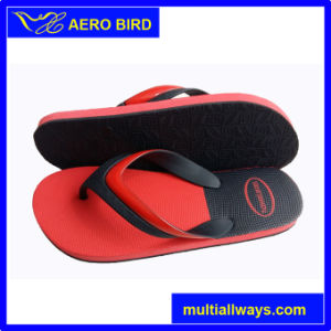 Classic Black and Red Men PE Flip Flop pictures & photos